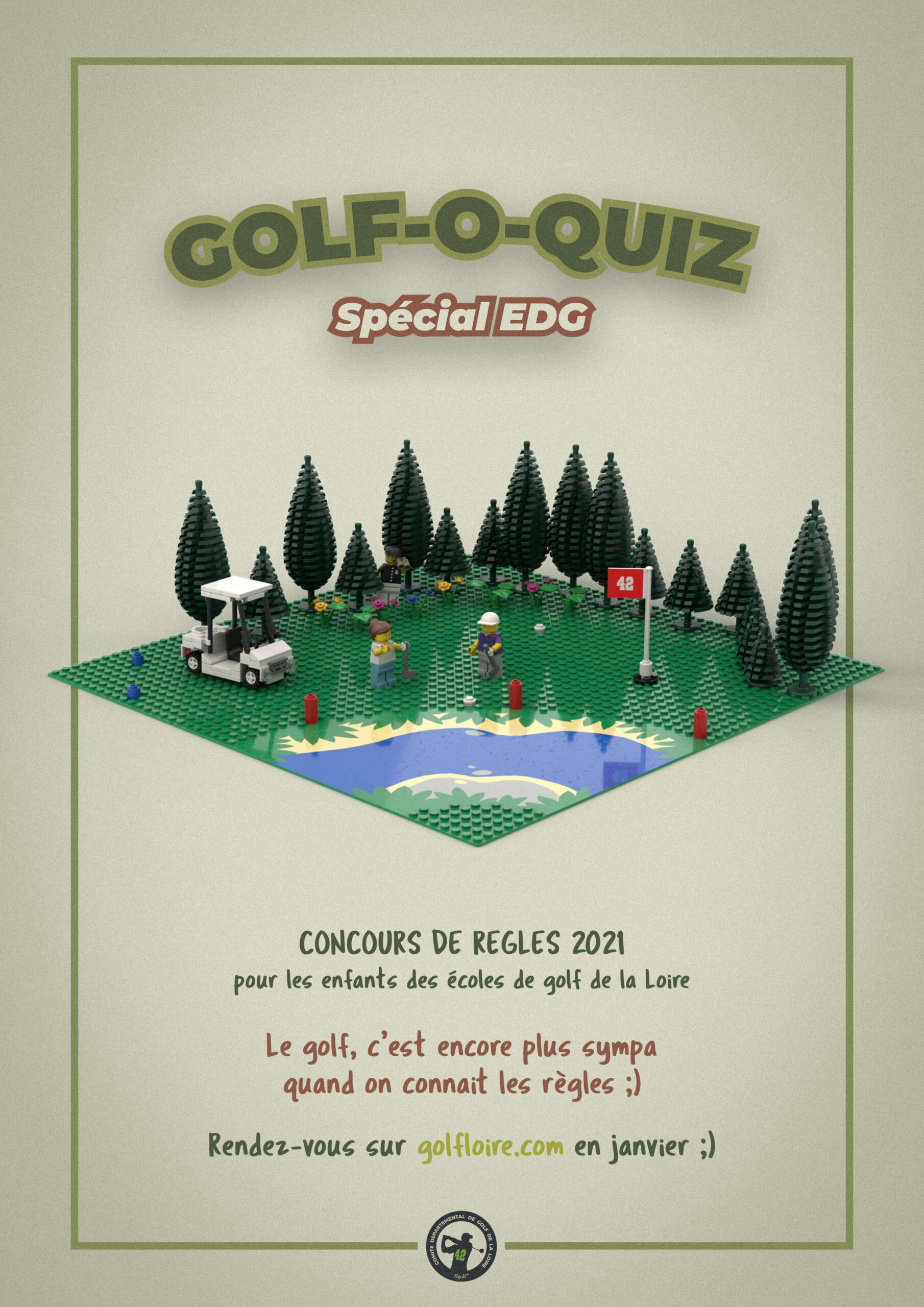 Affiche Golf O Quizz Special Edg